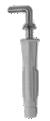 UH-LL hmoždinka uzlovací s lemem, skoba 6x38