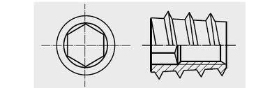 Matice závrtná IMB typ E ZB 8x13