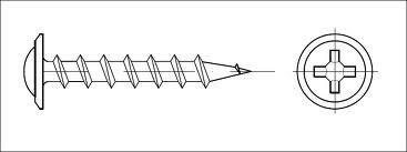 Vrut sádrokarton s rám.hlavou COARSE 4,2x035
